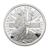 Britannia 2020 monedă din argint proof 1 oz