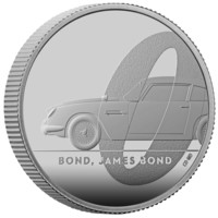 James Bond monedă din argint 1/2 oz