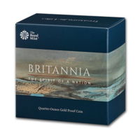 Britannia 2020 monedă din aur proof 1/4 oz