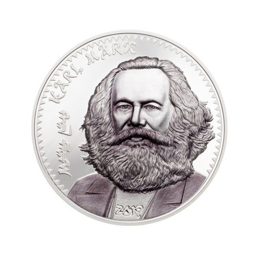 Karl Marx monedă din argint proof 1 oz