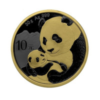 Panda monedă din argint 2019 Golden Ring