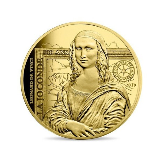 Mona Lisa monedă din aur 1\/4 oz proof