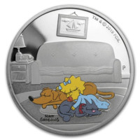 Maggie Simpson monedă dn argint 1 oz Proof
