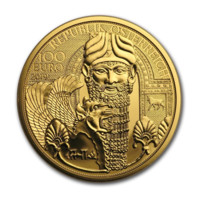 Magia Aurului - Mesopotamia monedă din aur 1/2 oz Proof